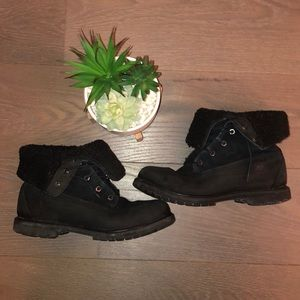 Black Teddy Fleece Timberlands